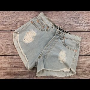 The laundry room LA button fly shorts 27